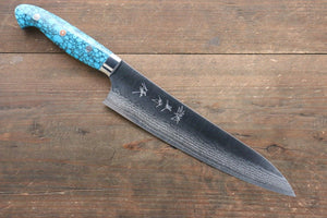 Yu Kurosaki SRS13 Damascus Gyuto Japanese Knife 210mm with Turquoise Handle