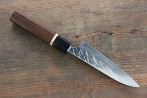 Yu Kurosaki Fujin VG10 Hammered Petty-Utility Japanese Knife 120mm with Wenge Handle