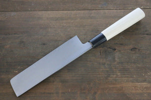[Left Handed] Sakai Takayuki Kasumitogi White Steel Usuba Japanese with Chef's Knife Water Buffalo Handle