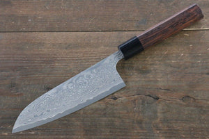 Nao Yamamoto R2/SG2 Damascus Santoku Japanese Knife 170mm with Shitan Rosewood Handle