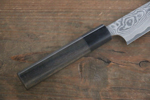 Takeshi Saji VG10 Black Damascus Petty Japanese Chef Knife 150mm with Shitan Rosewood handle