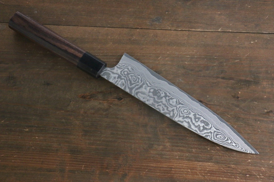 Takeshi Saji VG10 Black Damascus Gyuto Japanese Chef Knife 210mm with Shitan Rosewood handle