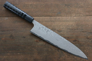 Takeshi Saji VG10 Damascus Gyuto Japanese Knife 240mm with Cashew paint (Black) Handle