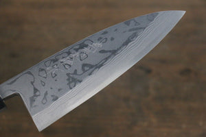 Hideo Kitaoka White Steel No.2 Damascus Deba Japanese Chef Knife 150mm