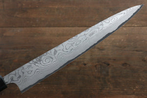 Takeshi Saji VG10 Damascus Sujihiki Japanese Knife 270mm with Cashew paint (Black) Handle