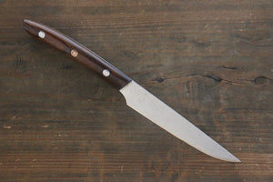 Takeshi Saji R2/SG2 Steak Knife Japanese Chef Knife 125mm with Iron Wood handle