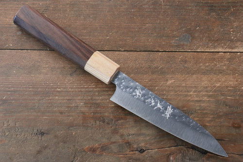 Yu Kurosaki Senko R2/SG2 Hammered Petty-Utility Japanese Knife 120mm with Shitan Handle - Japanny - Best Japanese Knife