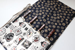 Japanese Style Knife Roll Kamon-Ura-GoldKamon 4 Pockets
