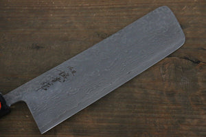 Shigeki Tanaka R2 Black Damascus Nakiri Japanese Chef Knife 165mm