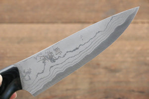 Kazuo Nomura White Steel No.2 Damascus Gyuto Japanese Knife 120mm with Micarta Handle