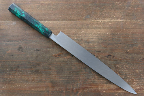 Sakai Takayuki Sakai Takayuki Nanairo INOX Molybdenum Yanagiba Japanese Knife 270mm with ABS resin(Green tortoiseshell) Handle - Japanny - Best Japanese Knife