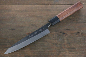 Yoshimi  Kato Blue Super Clad Kurouchi Petty-Utility Japanese Chef Knife 150mm Honduras Rosewood Handle