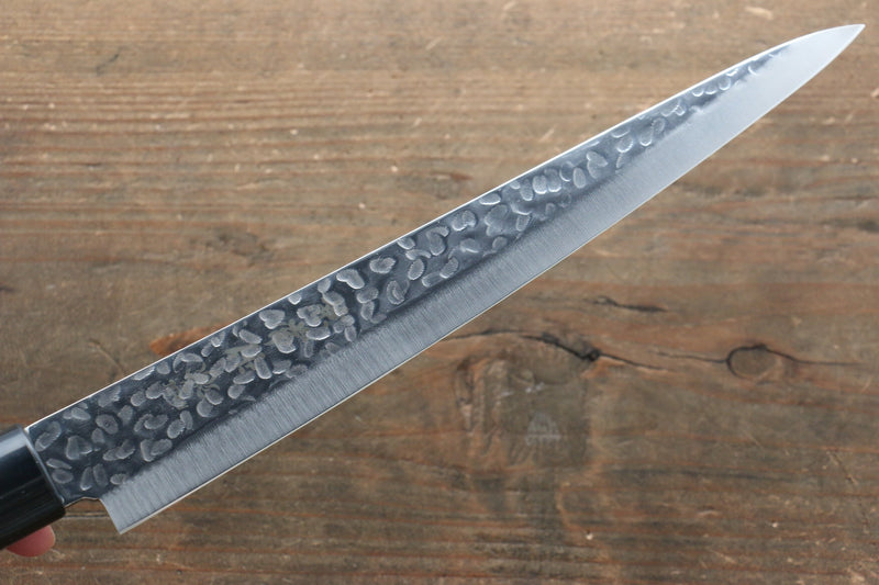 Kanetsune DSR-1K6 Hammered Sujihiki Japanese Knife 210mm Red Pakka wood Handle - Japanny - Best Japanese Knife