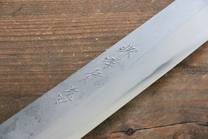 Sakai Takayuki Kiba (Japanny Exclusive Edition) Silver Steel No.3 Damascus Kiritsuke Yanagiba Japanese Knife 300mm with Saya