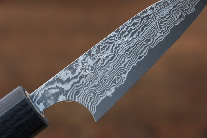 Yoshimi Kato VG10 Damascus Petty-Utility Japanese Knife 70mm with Shitan Handle - Japanny - Best Japanese Knife