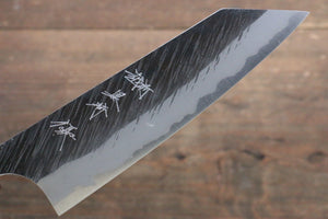Yu Kurosaki Fujin Blue Super Hammered Damascus Bunka Japanese Knife 165mm with Keyaki  (Japanese Elm) Handle