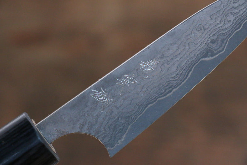 Yoshimi Kato VG10 8 Layer Damascus Petty-Utility Japanese Knife 75mm with Shitan Handle - Japanny - Best Japanese Knife