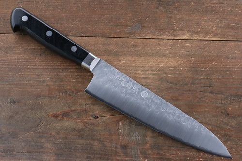 Takamura Knives VG10 Hammered Gyuto Japanese Knife 180mm Black Pakka wood Handle - Japanny - Best Japanese Knife
