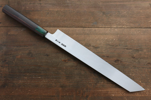 Sakai Takayuki Blue Steel No.2 Mirrored Finish Kiritsuke Japanese Knife 300mm with Saya - Japanny - Best Japanese Knife