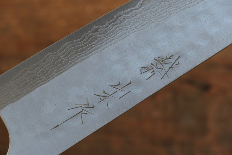 Nao Yamamoto SRS13 Black Damascus Santoku Japanese Knife 165mm Cherry Blossoms Handle - Japanny - Best Japanese Knife
