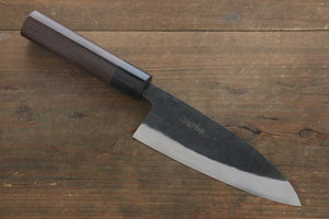 Takayuki Iwai White Steel No.2 Kurouchi Finish Deba Japanese Chef Knife 150mm