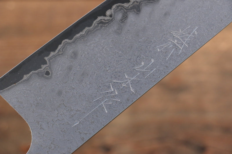 Nao Yamamoto VG10 Black Damascus Santoku Japanese Knife 165mm Walnut Handle - Japanny - Best Japanese Knife