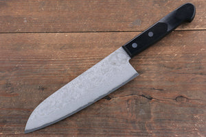 Nao Yamamoto VG10 Black Damascus Santoku Japanese Knife 180mm Black Pakka wood