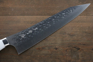 Yu Kurosaki R2/SG2 Hammered Kiritsuke Gyuto Japanese Chef Knife 240mm with White Stone Handle