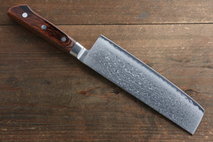 Tamahagane  63 Layer Damascus Nakiri Japanese Knife 180mm