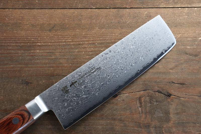 Tamahagane  63 Layer Damascus Nakiri Japanese Knife 160mm - Japanny - Best Japanese Knife