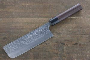 Yoshimi Kato Silver Steel No.3 Hammered Nakiri Japanese Chef Knife 165mm