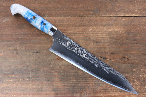 Yu Kurosaki Juhyo SPG2 Hammered Gyuto Japanese Knife 210mm Acrylic Handle - Japanny - Best Japanese Knife