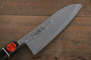 Shigeki Tanaka R2 Black Damascus Santoku Japanese Chef Knife 165mm