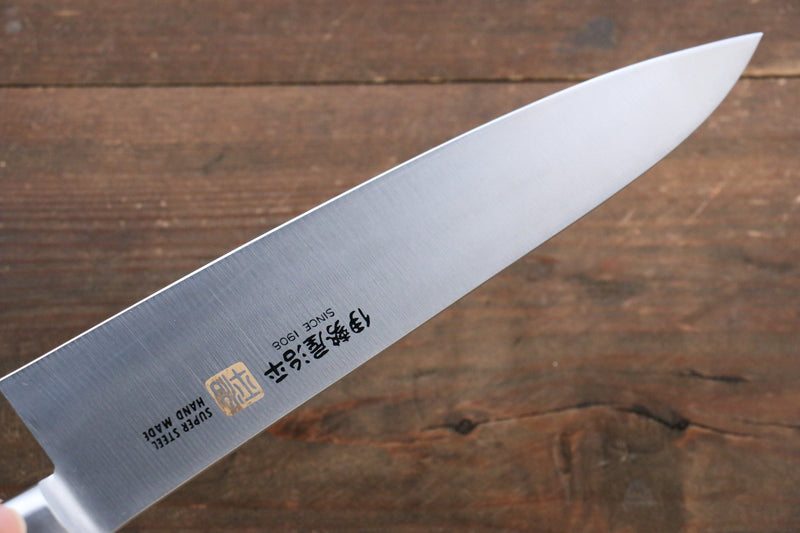 Iseya Molybdenum Steel Petty Japanese Chef Knife 120mm & Gyuto Knife 210mm with Mahogany Packer wood Handle Set (Ferrel : Stainless Steel) - Japanny - Best Japanese Knife