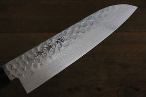Sakai Takayuki 45 Layer Damascus Japanese Chef's Santoku Knife 180mm with Shitan Handle