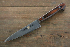 Iseya Molybdenum Steel Petty Japanese Chef Knife 120mm with Mahogany Handle