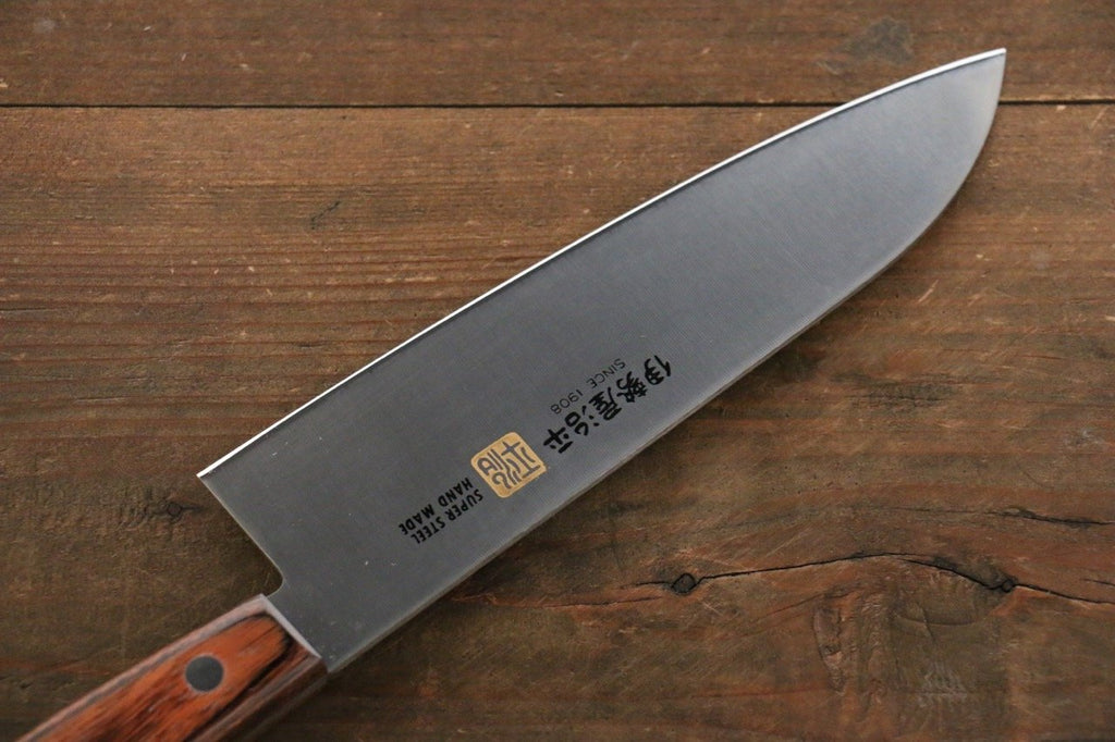 iseya molybdenum steel santoku japanese chef knife 180mm with mahogany japanny best japanese. Black Bedroom Furniture Sets. Home Design Ideas