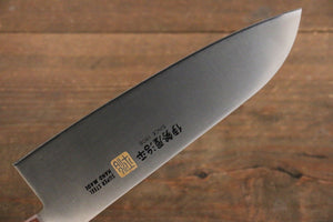 Iseya Molybdenum Steel Santoku Japanese Chef Knife 180mm with Mahogany Handle