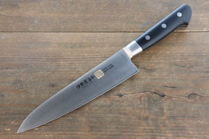 Iseya Molybdenum Steel Gyuto Japanese Chef Knife 180mm with Black Micarta handle (Ferrel : Stainless Steel)