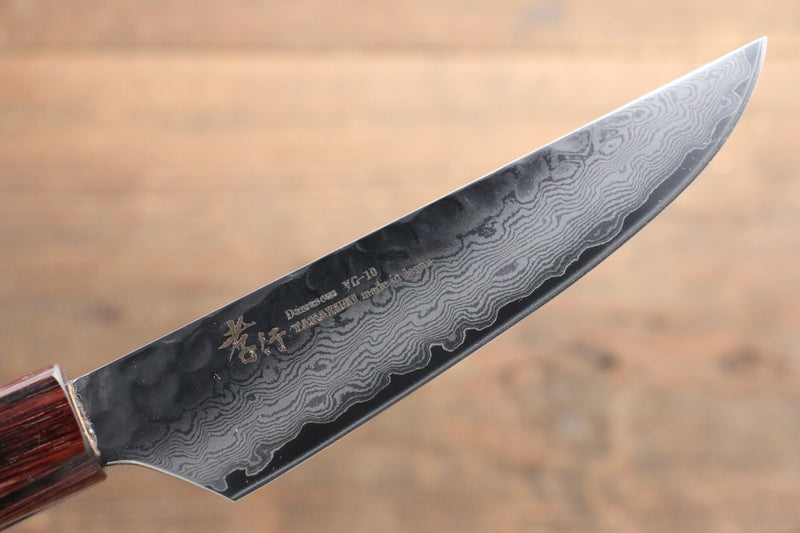 Sakai Takayuki VG10 33 Layer Damascus Steak Japanese Knife 120mm with Keyaki Handle(Japanese Elm) - Japanny - Best Japanese Knife