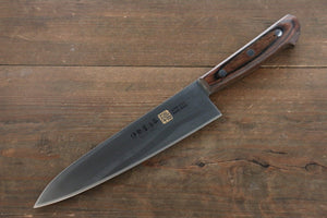 Iseya Molybdenum Steel Gyuto Japanese Chef Knife 180mm with Mahogany Handle