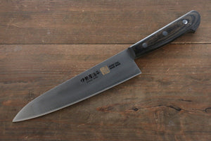 Iseya Molybdenum Steel Gyuto Japanese Chef Knife 180mm with Black Packer wood Handle