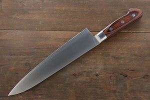Iseya Molybdenum Steel Gyuto Japanese Chef Knife 210mm with Mahogany Packer wood Handle