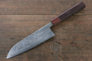 Takayuki Iwai VG10 Fumon Damascus Series Santoku Japanese Chef Knife 165mm Washiki