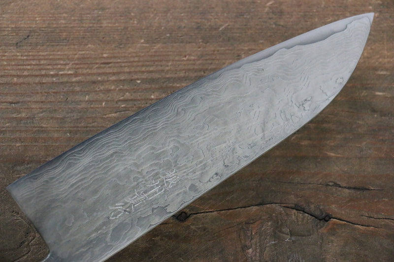 Takayuki Iwai VG10 Fumon Damascus Series Santoku Japanese Chef Knife 165mm Washiki - Japanny - Best Japanese Knife