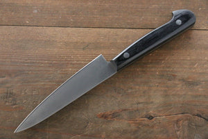Iseya Molybdenum Steel petty Japanese Chef Knife 120mm with Black Packer wood Handle