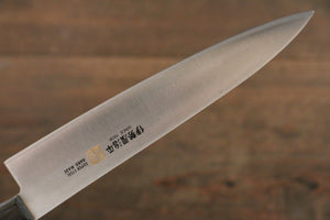 Iseya Molybdenum Steel petty Japanese Chef Knife 150mm with Black Packer wood Handle