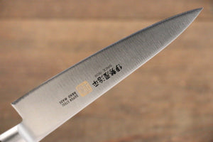 Iseya Molybdenum Steel Petty Japanese Chef Knife 120mm with Mahogany Packer wood Handle