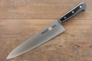 Iseya Molybdenum Steel Gyuto Japanese Chef Knife 210mm with Black Packer wood Handle
