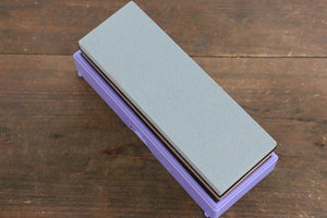 King Two Sided Sharpening Stone with Plastic Base - #220 & #800